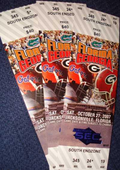 UGA UF Tickets