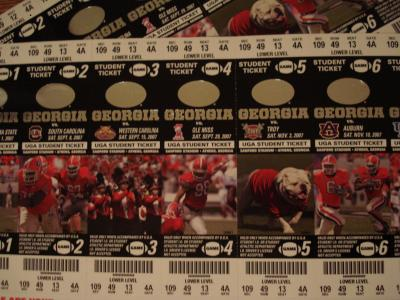Two Sets of 2007 Student Tickets
